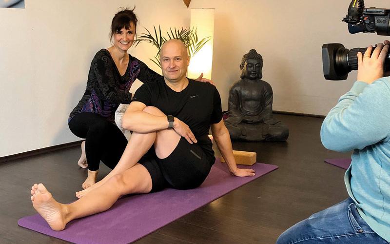 Yoga in der Lokalzeit Bergisches Land des WDR